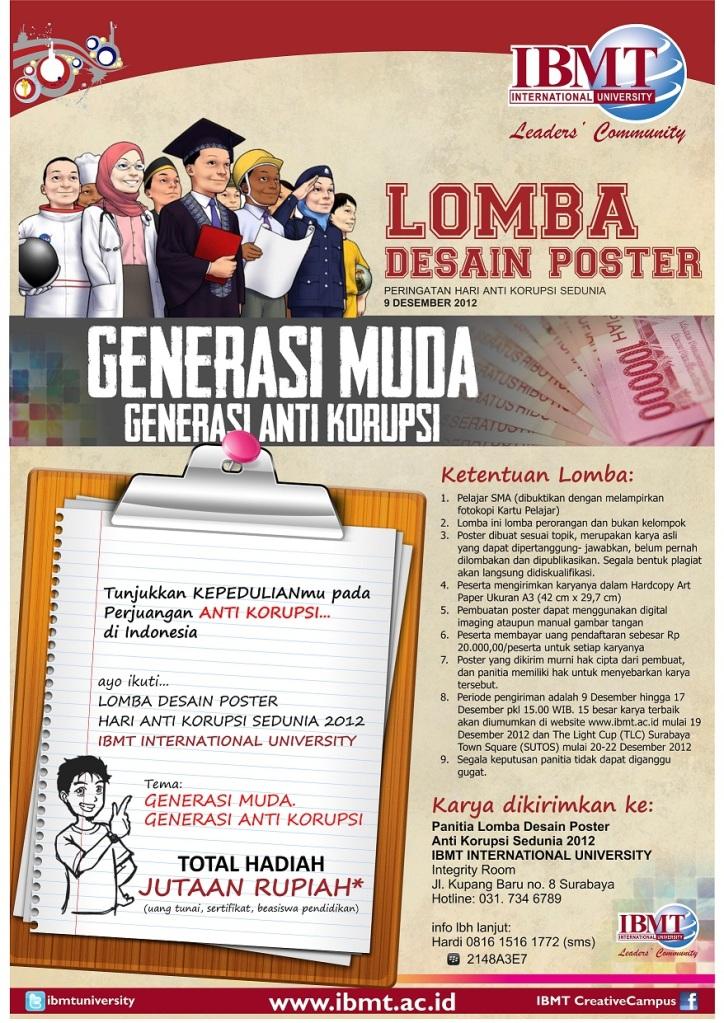 Lomba Desain Poster Hari Anti Korupsi Sedunia 9 Desember ...